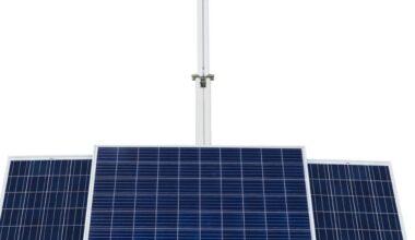 Solar Aydınlatma Kulesi enerjisini güneşten alıyor