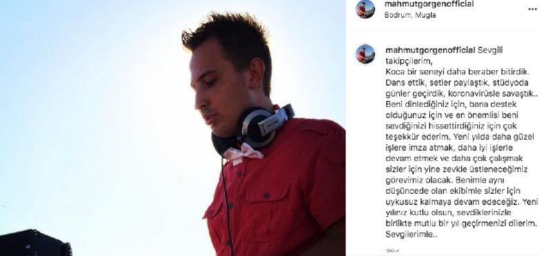 Ünlü DJ Mahmut Görgen'den yeni yıl paylaşımı!